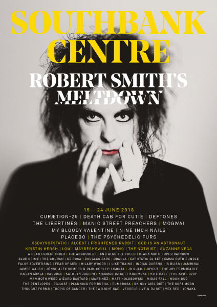 The Penelopes x Robert Smith The Cure Meltdown Festival Official Poster